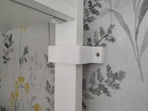 wall securing bracket for Ikea elvarli wardrobe.