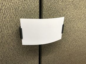 Cubicle wall card clip