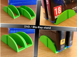 Stackable DVD / Blu-Ray stand holder