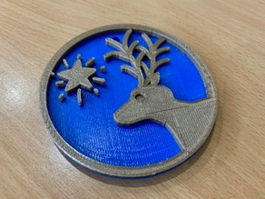 Reindeer Shaped Decoration / Ornament - Merry Christmas!