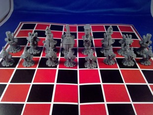 Steampunk Robot Chess Printable