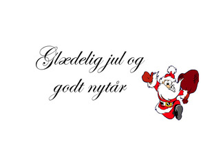 Glædelig Jul og Godt Nytår(Danish)