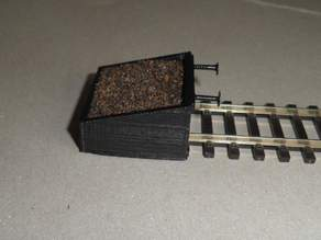 Buffer stop for piko H0 tracks