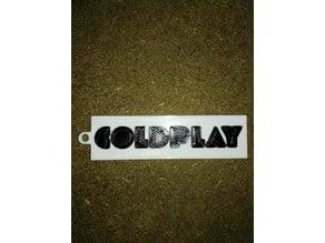 coldplay keychain