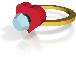 diamond heart ring version 2