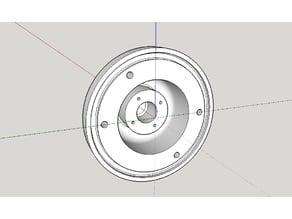 Sensor cover for wheelchair electronic brake assembly.