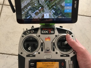 ASUS MeMo Pad 7 mount on Spektrum DX7s with 3DR radio
