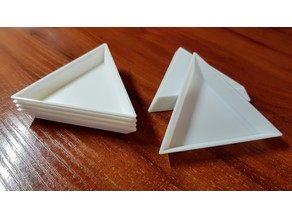 Triangle tray for nail art decorations, beads, rhinestones and other small things