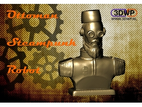 Ottoman Steampunk Robot Bust