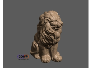 Lion Sculpture 3D Scan