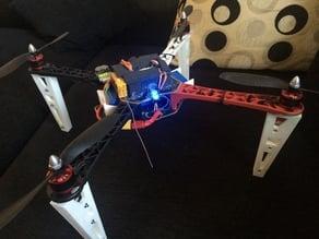 dji f450 quadcopter battery holder for inside led gopro and legs