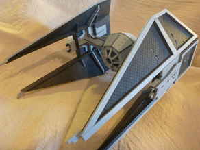 High detail laser cut Tie Interceptor