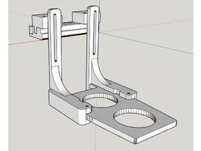 """Modified X-carve Dust Shoe for cnc4newbie 6"""" slide"""