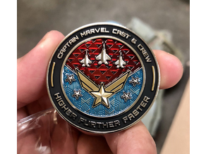 Captain Marvel Promotional Coin