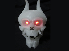 Skull with LED eyes