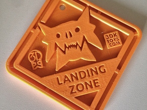 #QuinSaga: Monster Landing Zone Plaque - via 3DKToys.com