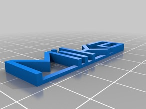 My Customized 3D name plate Mika