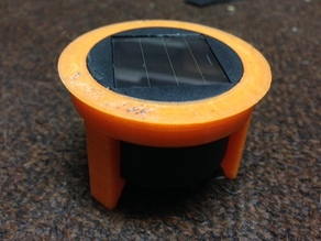 Adapter ring for Solar Lid for Makies pumpkin lantern