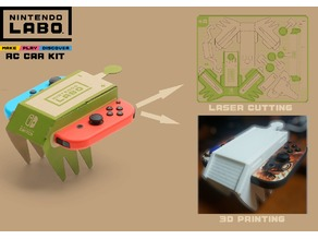 Nintendo Labo RC Car Ultimate 3D Print & Laser Cutting Kit | WIP