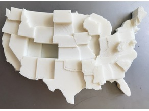 United States by % Overweight (2014)