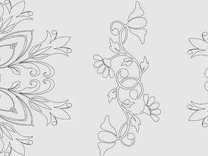 Flower and Flourish for eggbot
