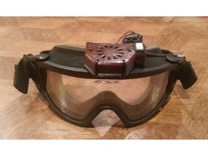 ESS Goggles 30x10mm Fan and 9V Battery Housing