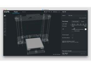 Anet A8 Cura Platform UI Upgrade