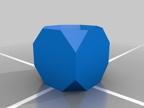 Truncated Cube with Hole