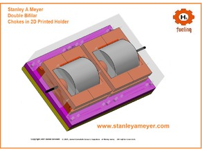 PRINT ME Stanley Meyer Stan Double Coil holder Choke 8xa 9xa