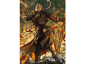 Jaya, Venerated Firemage - stained glass - litho