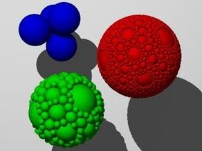 Apollonian Sphere Packing or Soddy Spheres