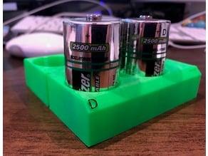 D BattBlox (D cell battery storage)