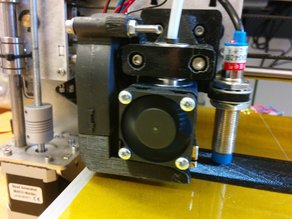 P3 Steel hotend mount with fan and proximity sensor