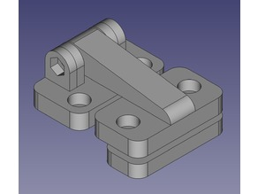 Offset hinge for MP Ultimate / Wanhao Duplicator 6