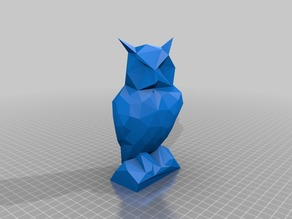 Low Poly Owl Statue