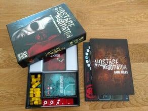 Hostage Negotiator Boardgame Box Insert (Van Ryder Games)