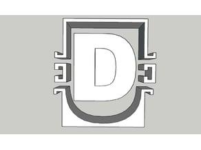 """Concrete mold for letter """"D"""""""