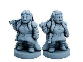 Dwarfclan War Hero (18mm scale)