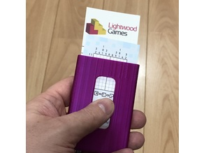 Business card holder for European sized cards