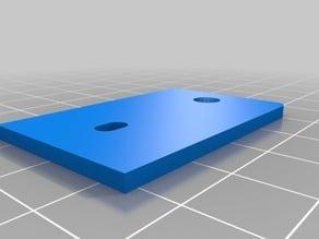 Extruder Plate 5mm LED Mount