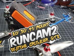 RunCam2 20°, 30°, 45° Mount for Diatone Crusader GT2