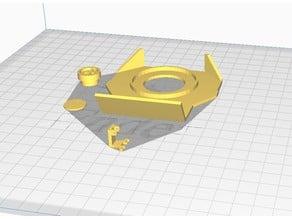 Eaglemoss Delorean  1:8 BTTF reactor plate parts