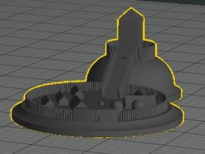 Motte and Bailey Castle model for game board or decoration