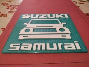 Suzuki Samurai logo -  plate