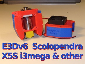 E3Dv6 Scolopendra Cooler for X5S, i3mega & other