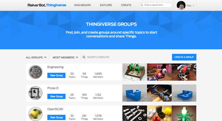 Thingiverse Groups