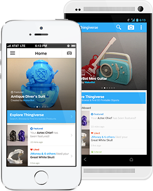MakerBot Thingiverse on iOS